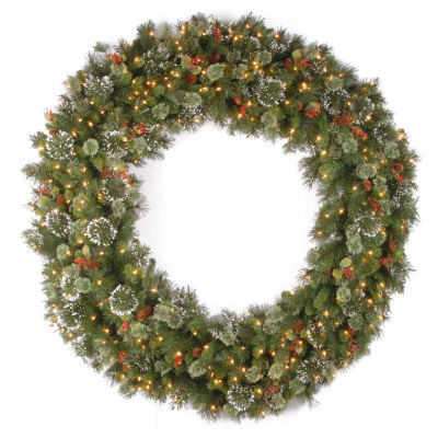 National Tree Co. Snowflaked Wintry Pine Indoor/Outdoor Christmas Wreath