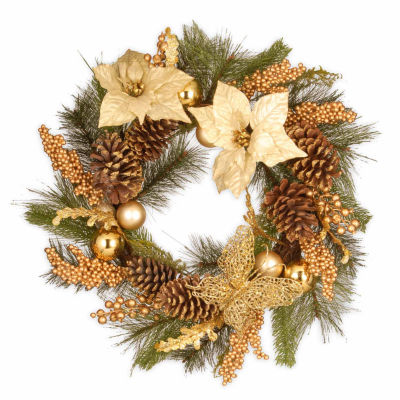 National Tree Co. Gold Accented Indoor/Outdoor Christmas Wreath