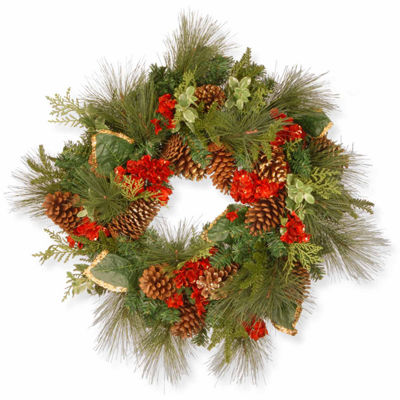 National Tree Co. Hydrangea Indoor/Outdoor Christmas Wreath