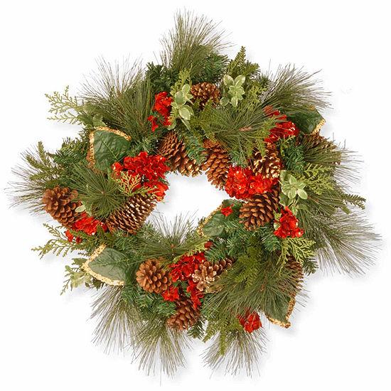National Tree Co. Hydrangea Indoor/Outdoor Christmas Wreath