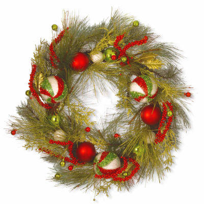 National Tree Co. Christmas Evergreen Indoor/Outdoor Christmas Wreath
