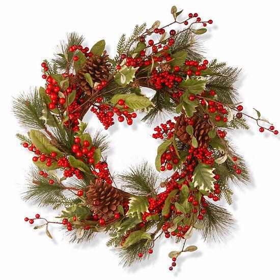 National Tree Co. Red Berries Evergreen Indoor/Outdoor Christmas Wreath