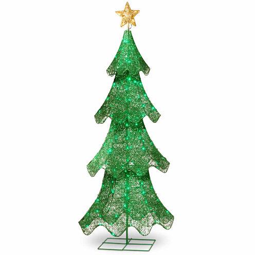 National Tree Co. 5 Foot 120 Led Lights Green Pre-Lit Christmas Tree