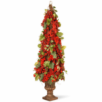 National Tree Co. 2 Foot Berry With Holly Leaf Pagoda Christmas Tree