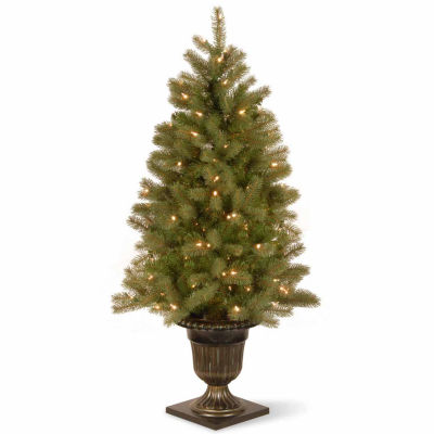 National Tree Co. 4 Foot Downswept Douglas Fir Fir Pre-Lit Christmas Tree