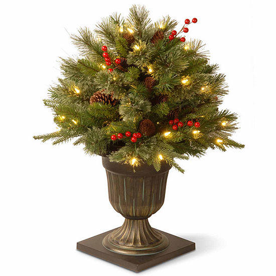 """National Tree Co. 2 Foot Feel-Real"""" Colonial Porch"""" Pre-Lit Christmas Tree"""