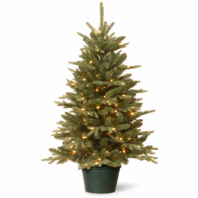 National Tree Co. 3 Foot Everyday Collections Small Potted Pre-Lit Christmas Tree