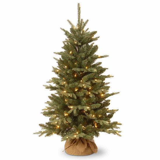 National Tree Co 4 Foot Burlap Pre Lit Christmas Tree