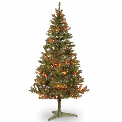 National Tree Co. 6 Foot Canadian Fir Grande Wrapped Fir Pre-Lit Christmas Tree