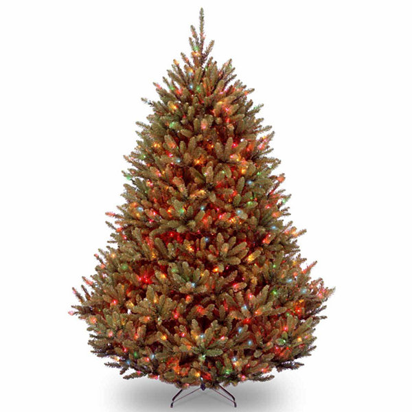 National Tree Co. 7 1/2 Foot Natural Fraser Fir Hinged Pre-Lit ...