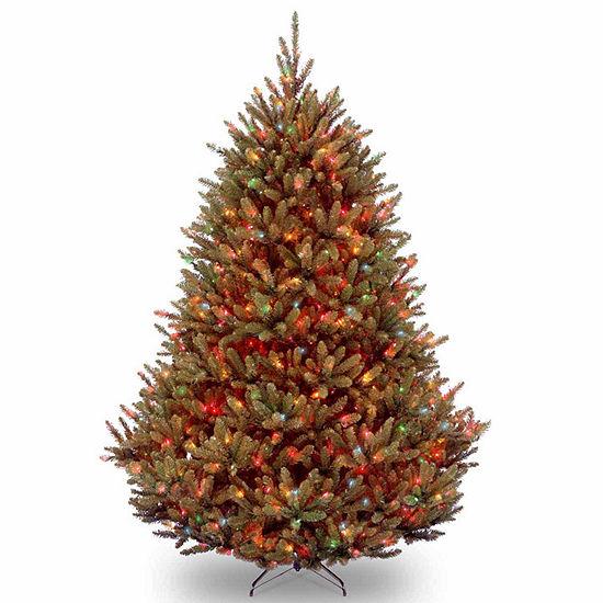National Tree Co 7 1 2 Foot Natural Fraser Fir Hinged Fir Pre Lit Christmas Tree