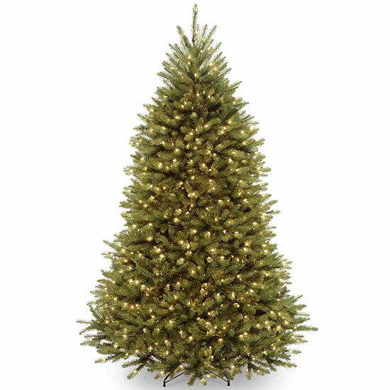 National Tree Co. 7 1/2 Foot Dunhill Fir Fir Pre-Lit Christmas Tree