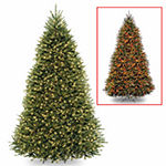 National Tree Co. 9 Foot Dunhill Fir Hinged Fir Pre-Lit Christmas Tree