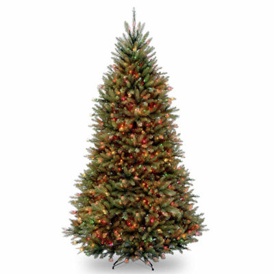 National Tree Co. 9 Foot Dunhill Fir Hinged Pre-Lit Christmas Tree