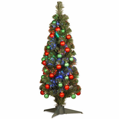 National Tree Co. 3 Foot Fireworks Shiny Ornament Pre-Lit Christmas Tree