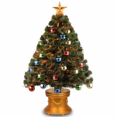 National Tree Co. 3 Foot Glitter-Balls Ornament Pre-Lit Christmas Tree