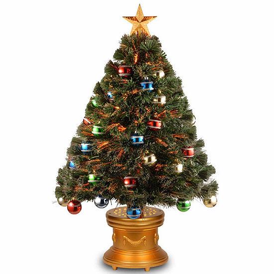 3 Pre Lit Christmas Tree.National Tree Co 3 Foot Glitter Balls Ornament Pre Lit Christmas Tree