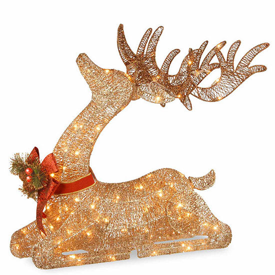 National Tree Co. Resting Reindeer Holiday Yard Art