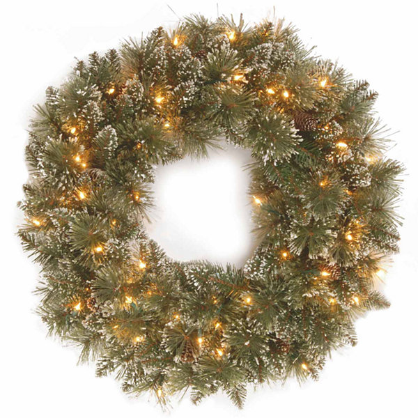 National Tree Co. Glittery Bristle Pine Indoor/Outdoor Christmas Wreath