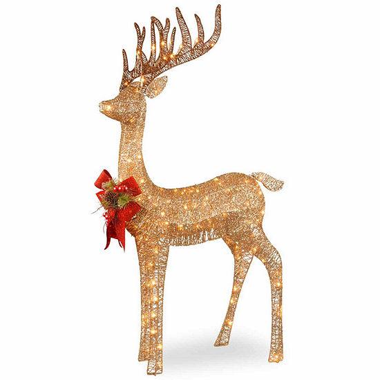 National Tree Co. Standing Reindeer Holiday Yard Art
