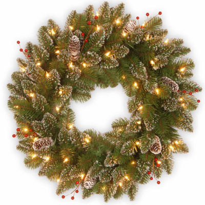 National Tree Co. Glittery Mountain Spruce Indoor/Outdoor Christmas Wreath