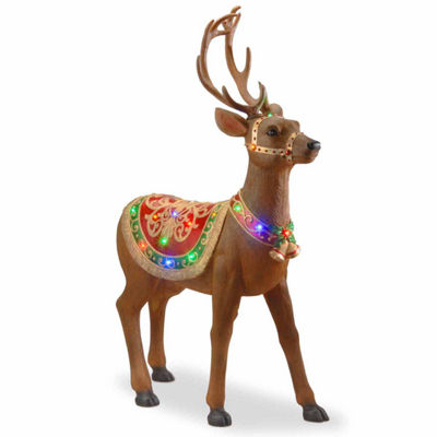 National Tree Co. Standing Deer Holiday Yard Art