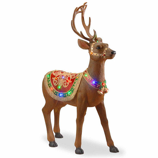 National Tree Co. Standing Deer Christmas Holiday Yard Art