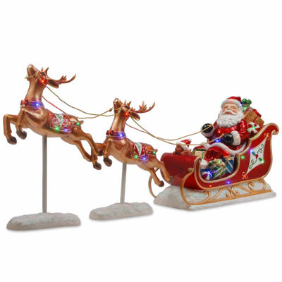 National Tree Co. Jollly Old Saint Nick Christmas Holiday Yard Art