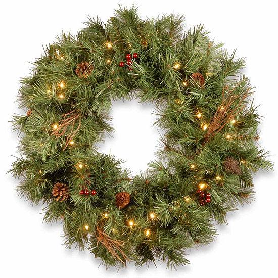 National Tree Co. Glistening Pine Indoor/Outdoor Christmas Wreath