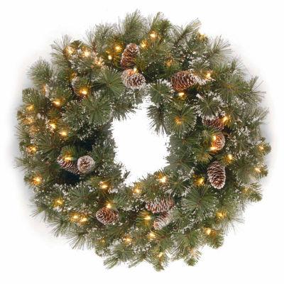 National Tree Co. Glittery Pine Indoor/Outdoor Christmas Wreath
