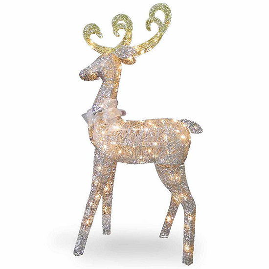 National Tree Co Standing Reindeer Christmas Holiday Yard Art