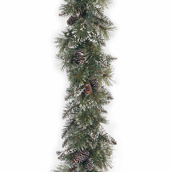 National Tree Co Glittery Bristle Pine Indoor Outdoor Christmas Garland