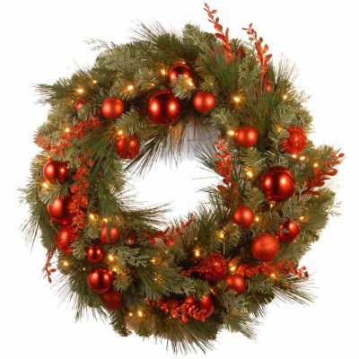 National Tree Co. Red Mixed Ornament Indoor/Outdoor Christmas Wreath