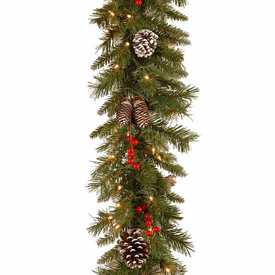 National Tree Co Frosted Berry Indoor Outdoor Christmas Garland