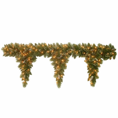 National Tree Co. Glittery Bristle Pine Indoor/Outdoor Christmas Garland