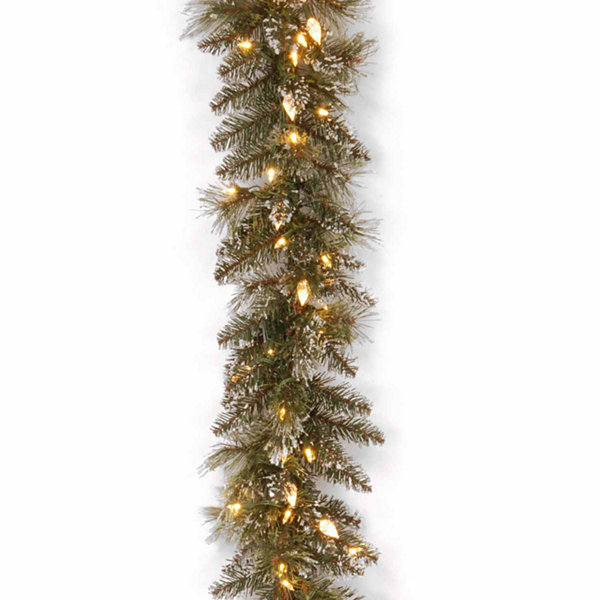 National Tree Co. Glittery Bristle Pine Christmas Garland
