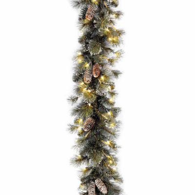 National Tree Co. Glittery Pine Snow Tipped Pine Cones Christmas Garland