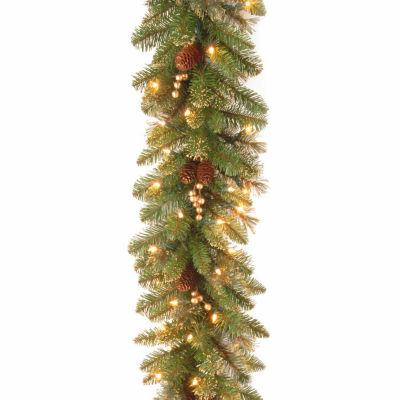 National Tree Co. Glittery Gold Pine Indoor/Outdoor Christmas Garland