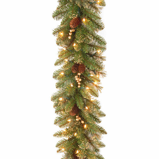 National Tree Co Glittery Gold Pine Indoor Outdoor Christmas Garland