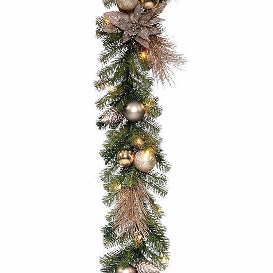 National Tree Co. Metallic Indoor/Outdoor Christmas Garland