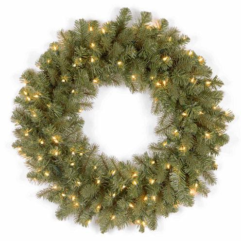 National Tree Co. Downswept Douglas Feel Real Indoor/Outdoor Christmas Wreath