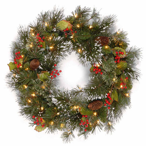 National Tree Co. Snowflakes Wintry Pine Indoor/Outdoor Christmas Wreath