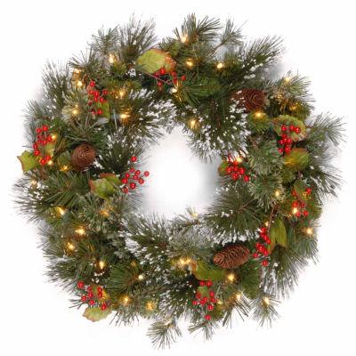 National Tree Co. Berries And Pinecones Wintry Pine Indoor/Outdoor Christmas Wreath