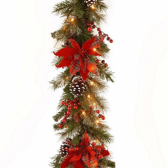 tartan plaid indooroutdoor christmas garland - Outdoor Christmas Garland