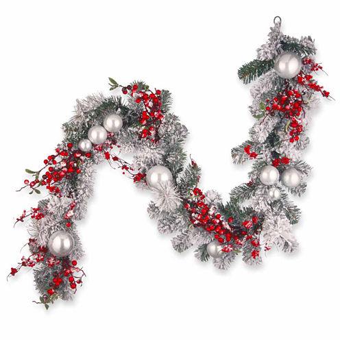 National Tree Co. Ornament Snow Flocked Evergreen Flocked Christmas Garland