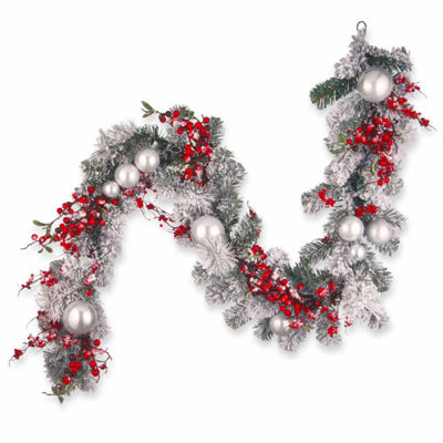 National Tree Co. Ornament Snow Flocked Evergreen Flocked Indoor/Outdoor Christmas Garland