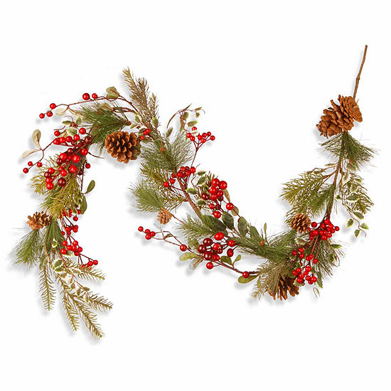 National Tree Co. Berries And Pinecones Indoor/Outdoor Christmas Garland
