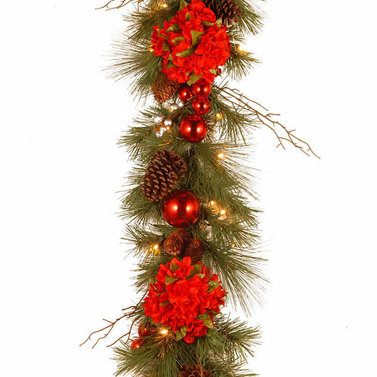 National Tree Co. Hydrangea Indoor/Outdoor Christmas Garland