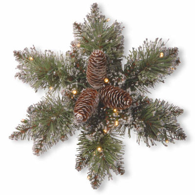 National Tree Co. Glittery Bristle Pine Holiday Yard Art