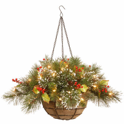 National Tree Co. Wintry Pine Christmas Hanging Basket